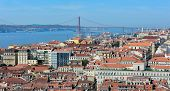 View Of Lisbon From The Top Of Rua Augusta Arch, Portugal