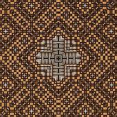 3D Brown Pyramid Pattern
