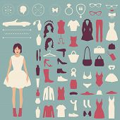 fashion vector icons,