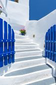 Staircase And Traditional Architecture In Santorini, Greece
