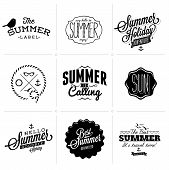 stock photo of bon voyage  - Retro elements for Summer calligraphic designs  - JPG