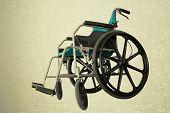 Wheelchair Service In Airport Vintage Background