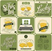 Typographic Saint Patricks Day Design