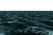 Digitally generated Rough sea on white background