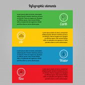 Infographic elements on environmental issues