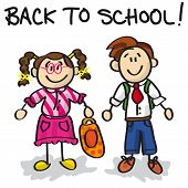 Back To School Cartoon Characters