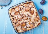Homemade Clafoutis With Plums