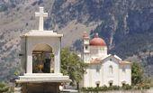 Cretan Funeral Memorial And Church. Lakki. Greece