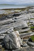 foto of long distance  - Rocky coast of Sudhanais Berneray  - JPG