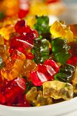 foto of gummy bear  - Colorful Fruity Gummy Bears Ready to Eat - JPG