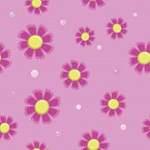 seamless background of simple pink flowers