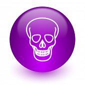 skull internet icon