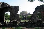 Gumbaz Behind Ruins