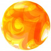 Sphere. Abstract vector illustration.