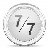 7 per 7 internet icon