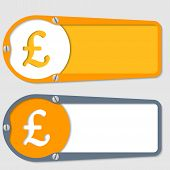 Set Of Two Boxes For Any Text With Pound Symbol