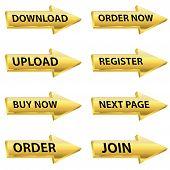 Gold Arrow Web Button