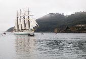 Ferrol, Spain - February 15: Spanish Navy Training Ship, Juan Sebastian De Elcano On February 15 , 2