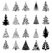 Various stylized Christmas trees! Vector eps8
