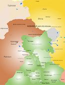 Vector color Kashmir region map