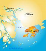 Hong Kong vector color map