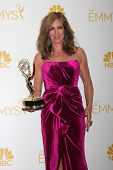 LOS ANGELES - AUG 25:  Allison Janney at the 2014 Primetime Emmy Awards - Press Room at Nokia Theate