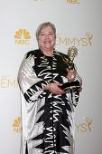 LOS ANGELES - AUG 25:  Kathy Bates at the 2014 Primetime Emmy Awards - Press Room at Nokia Theater a