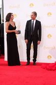 LOS ANGELES - AUG 25:  Chelsea Field, Scott Bakula at the 2014 Primetime Emmy Awards - Arrivals at Nokia Theater at LA Live on August 25, 2014 in Los Angeles, CA