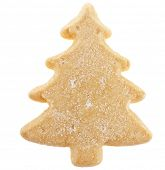 christmas cookies surface top view close up macro shot isolated on a white background