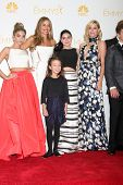 LOS ANGELES - AUG 25: Sarah Hyland, Sofia Vergara, Aubrey Anderson Emmons, Julie Bowen, Ariel Winter at the 2014 Primetime Emmy Awards at Nokia Theater at LA Live on August 25, 2014 in Los Angeles, CA