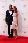 LOS ANGELES - AUG 25:  Mark Burnett, Roma Downey at the 2014 Primetime Emmy Awards - Arrivals at Nok