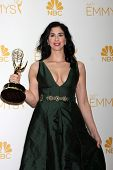 LOS ANGELES - AUG 25:  Sarah Silverman at the 2014 Primetime Emmy Awards - Press Room at Nokia Theat