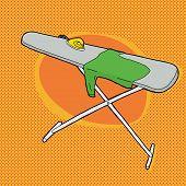 Shirt On Ironing Board