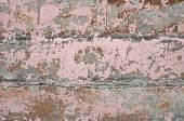 Texture Of Wall Covered With Pink Stucco