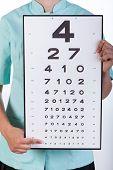 Oculist With A Snellen Chart