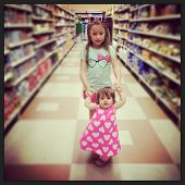 Young girls in the grocery store - instagram effect