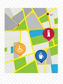 Abstract city map illustration, vector