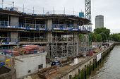 River Walk Gardens construction, Pimlico