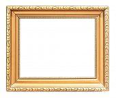 Old golden painting frame