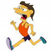 Vector running athlete