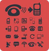 phone, smartphone, retrophone, cell, internet connection isolated icons, signs, symbols, illustratio