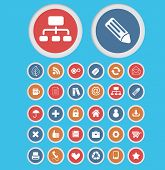 business presentation, office, business, management isolated buttons, icons, signs, symbols, illustr