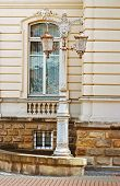 Lantern In Potocki Palace In Lviv, Ukraine. Currently - Lviv National Art Gallery