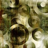 art abstract geometric textured colorful background with circles in green, grey, white and black col