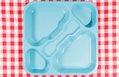 stock photo of canteen  - Tray dining polycarbonate for use in school canteens
