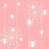Seamless Pattern With Spiders