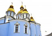 Classic Golden Roofs And Blue Walls At Saint Michael Cathedral In Kiev Ucraine
