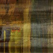 art abstract colorful silk textured blurred background in green, grey, gold and blue colors
