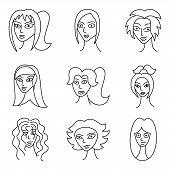 Different Comic Woman Faces