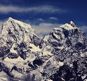 mountains in Sagarmatha region,Himalaya